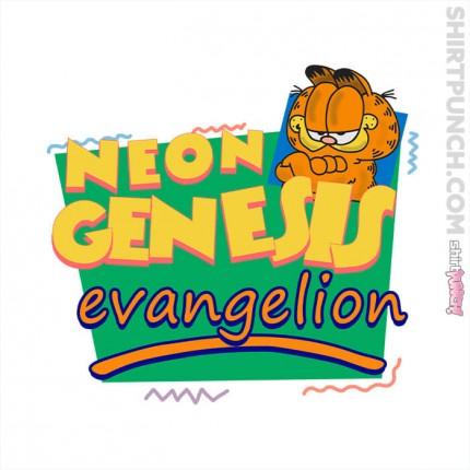 Neon Garfield Evangelion And Friends