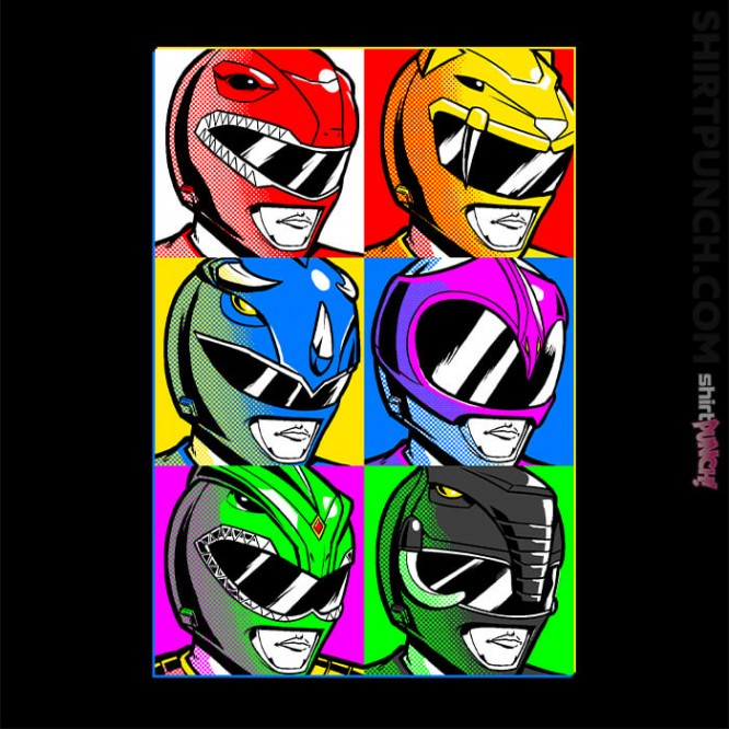 Pop Art Power Rangers